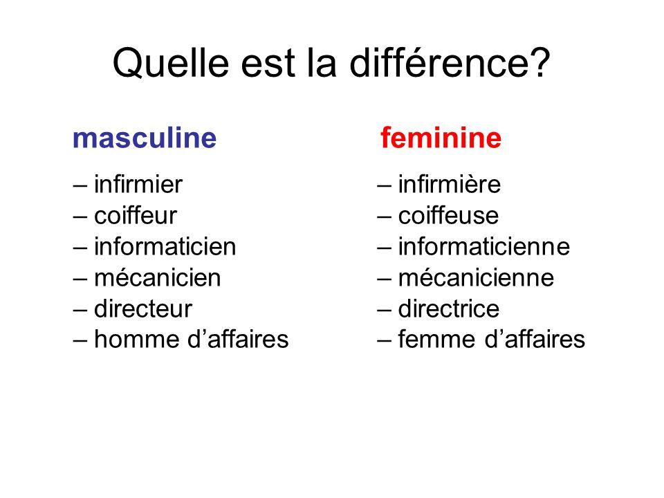 Quelle est la différence
