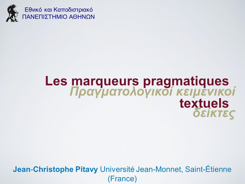 Les marqueurs pragmatiques textuels