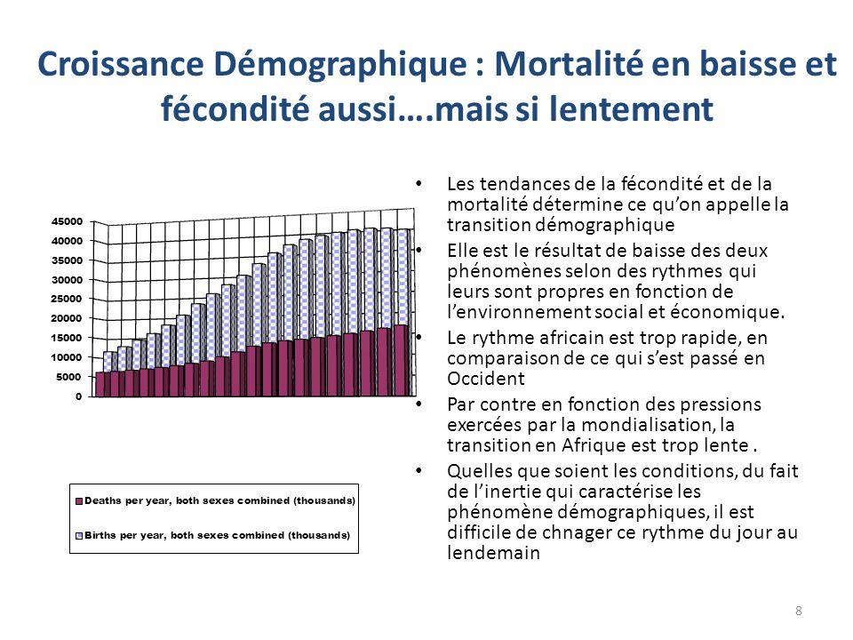 Croissance Démographique : Mortalité en baisse et fécondité aussi…
