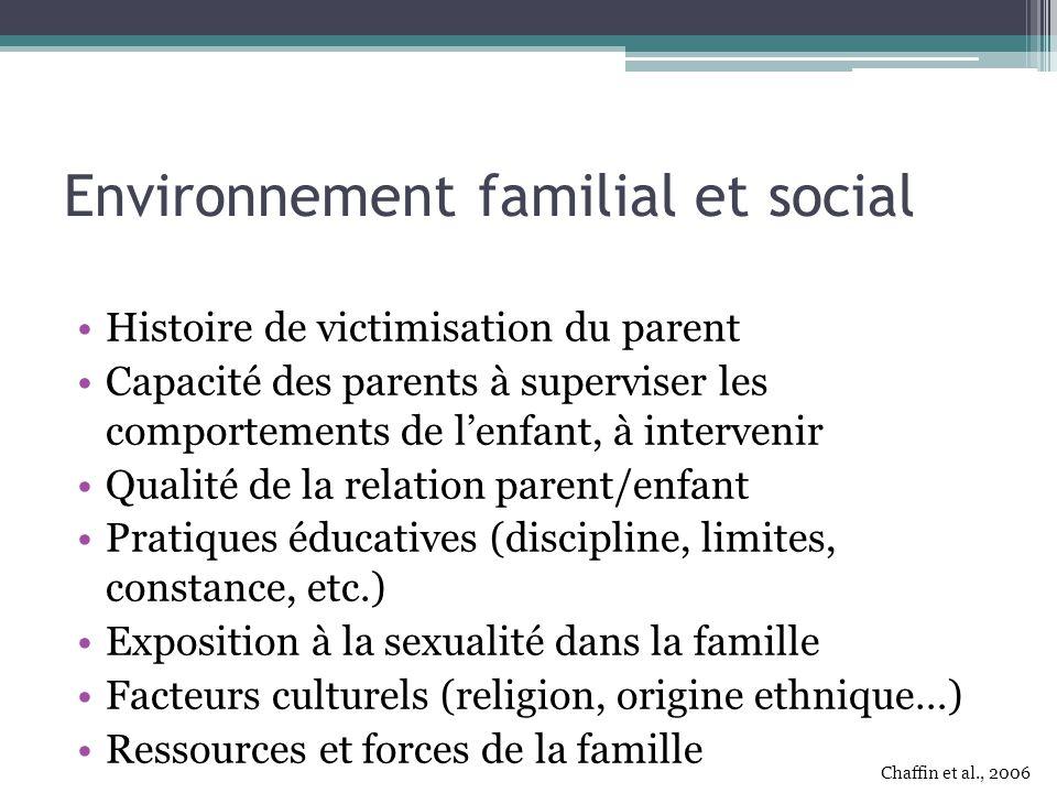 Environnement familial et social