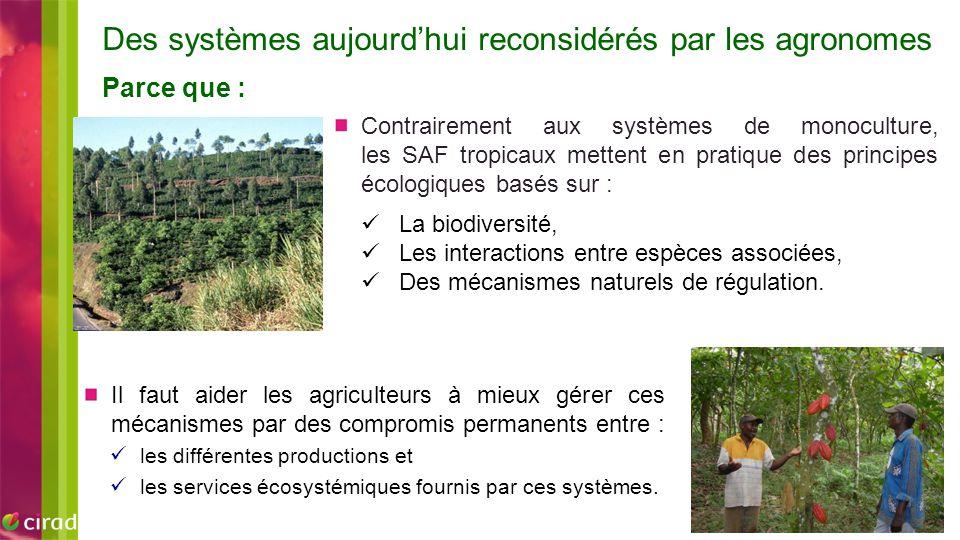 Des systèmes aujourd'hui reconsidérés par les agronomes