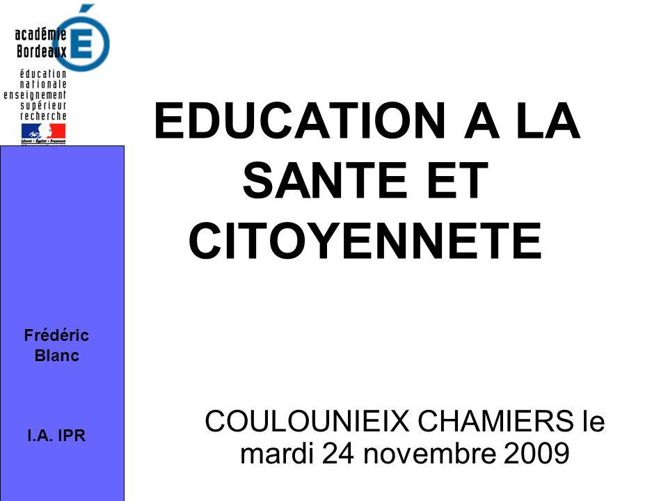 EDUCATION A LA SANTE ET CITOYENNETE