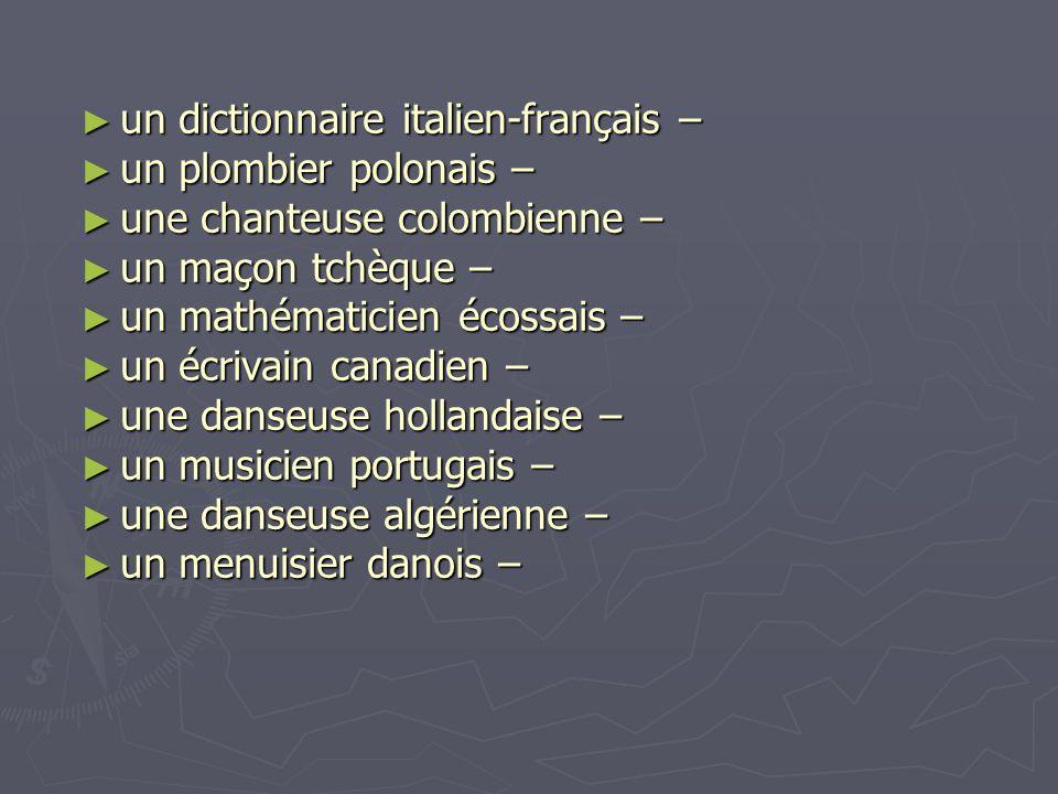 un dictionnaire italien-français –