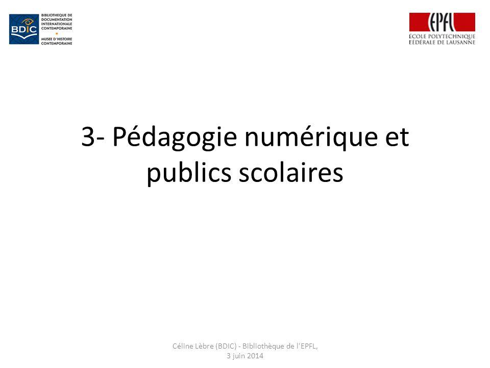 3- Pédagogie numérique et publics scolaires