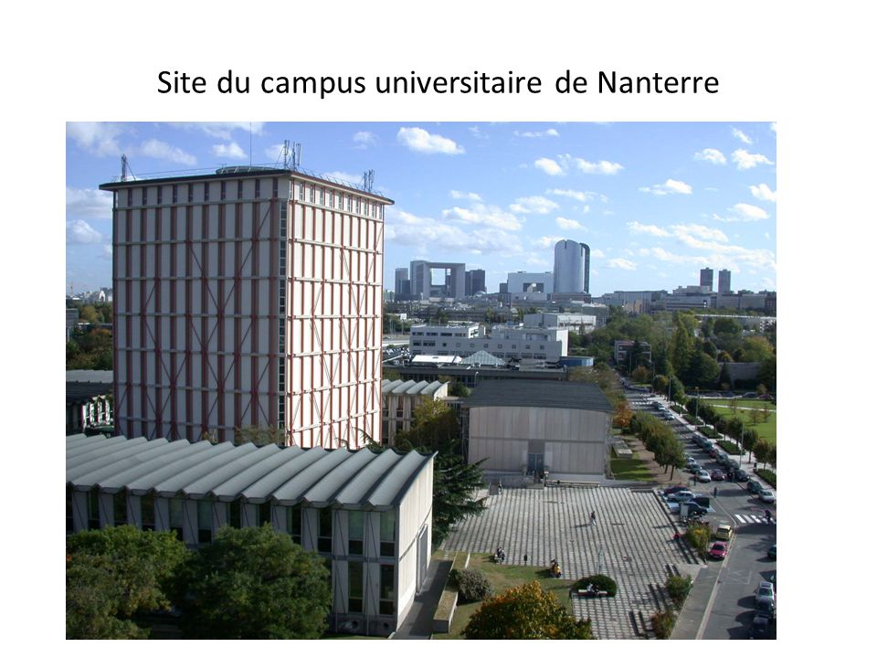 Site du campus universitaire de Nanterre