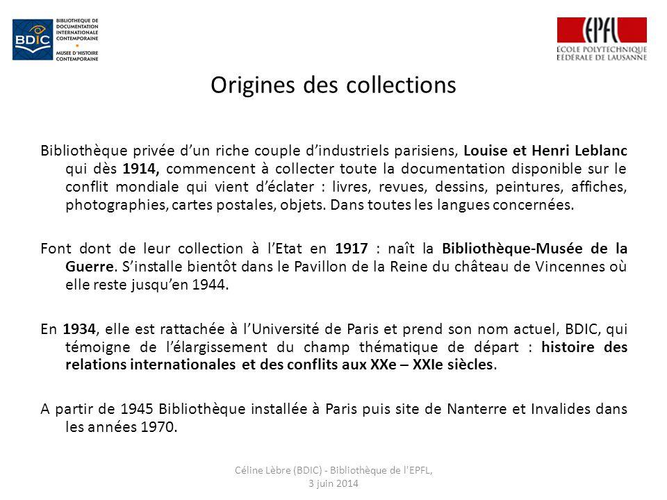 Origines des collections