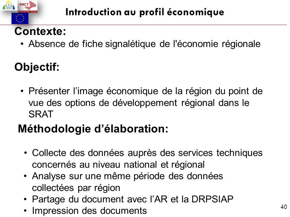 Introduction au profil économique