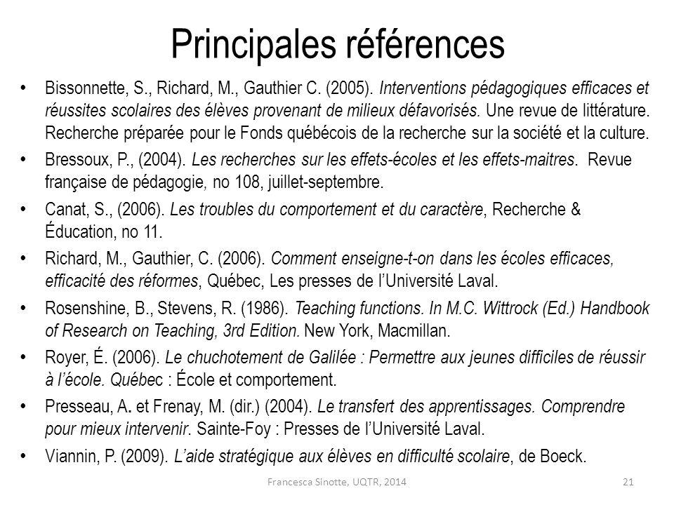Principales références