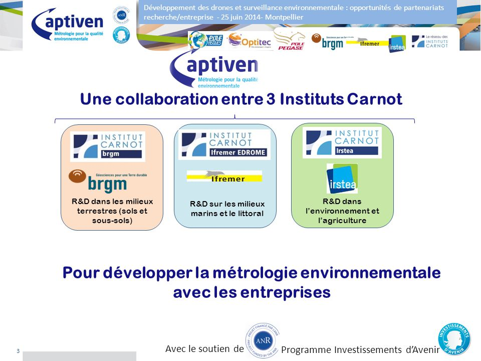 Une collaboration entre 3 Instituts Carnot