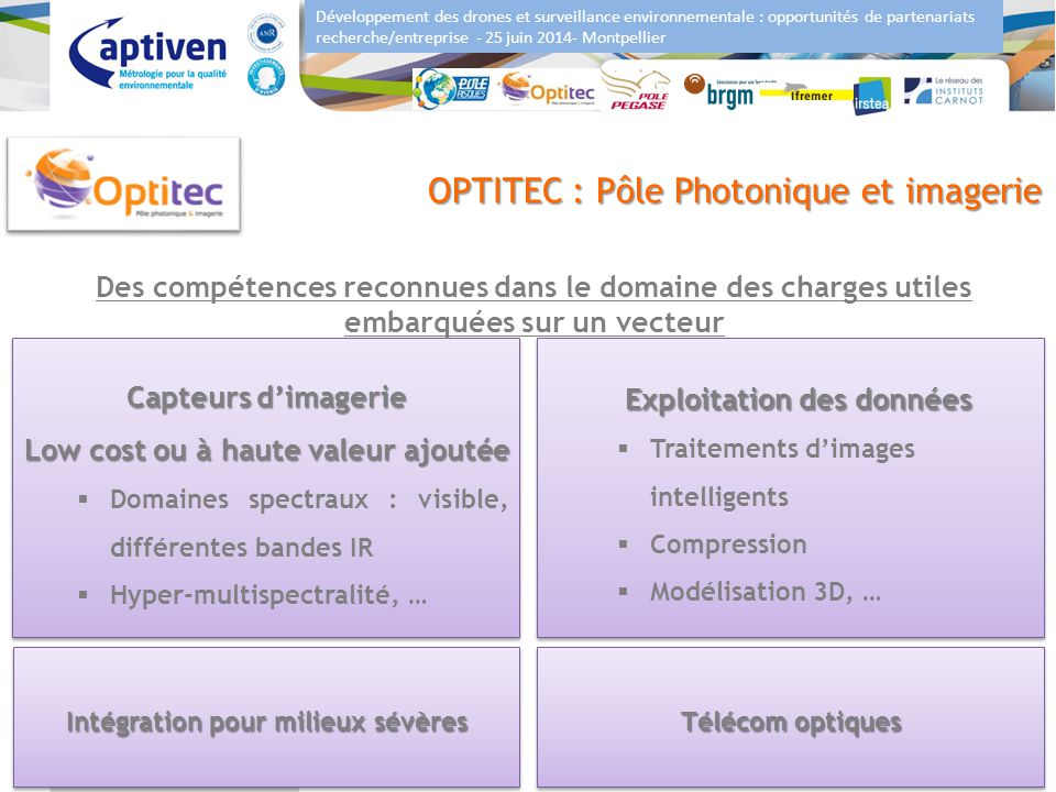 OPTITEC : Pôle Photonique et imagerie