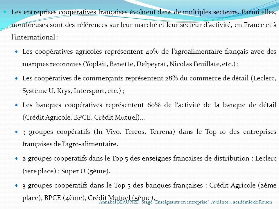 Les entreprises coopératives françaises évoluent dans de multiples secteurs. Parmi elles, nombreuses sont des références sur leur marché et leur secteur d'activité, en France et à l'international :