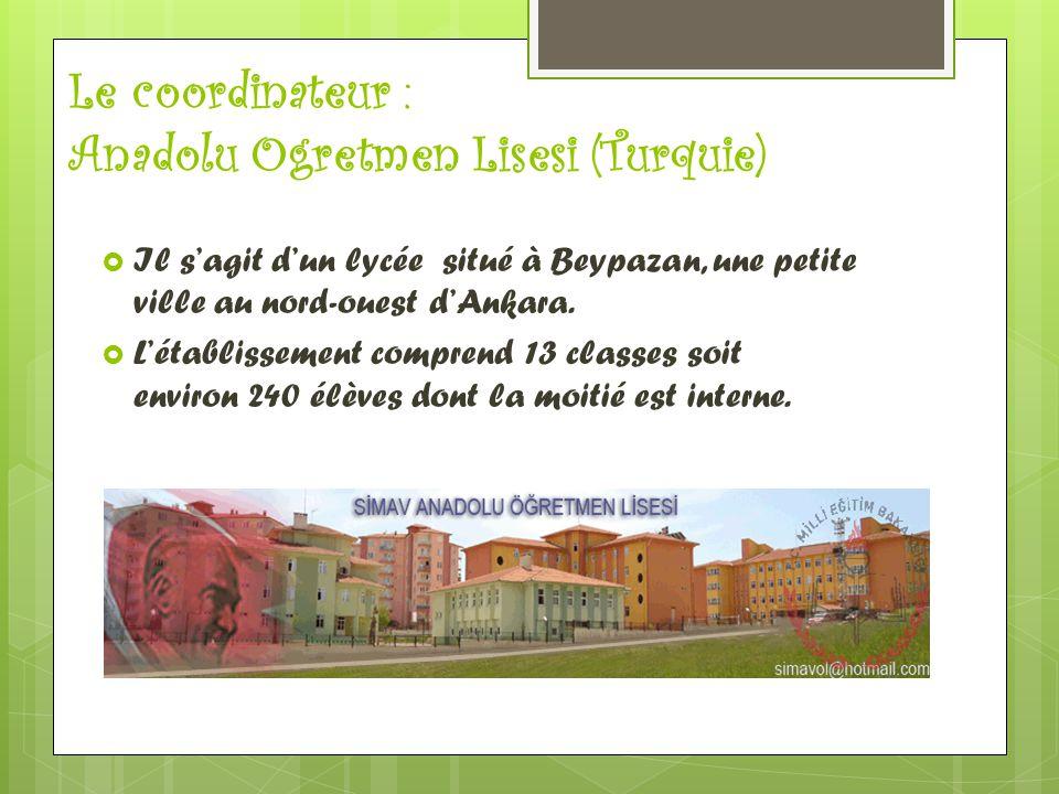 Le coordinateur : Anadolu Ogretmen Lisesi (Turquie)