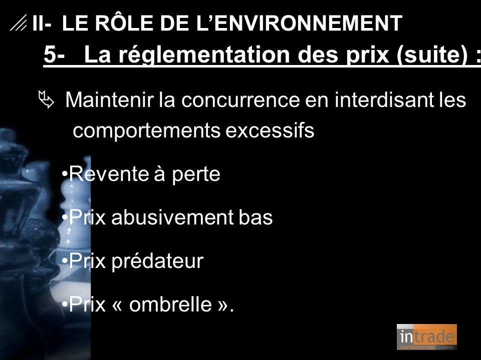 II- LE RÔLE DE L'ENVIRONNEMENT