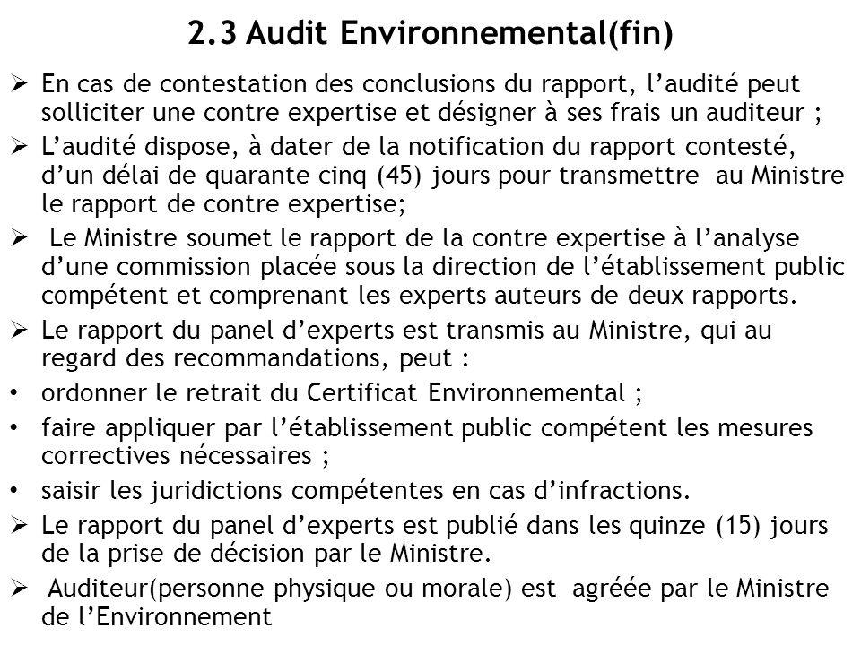 2.3 Audit Environnemental(fin)