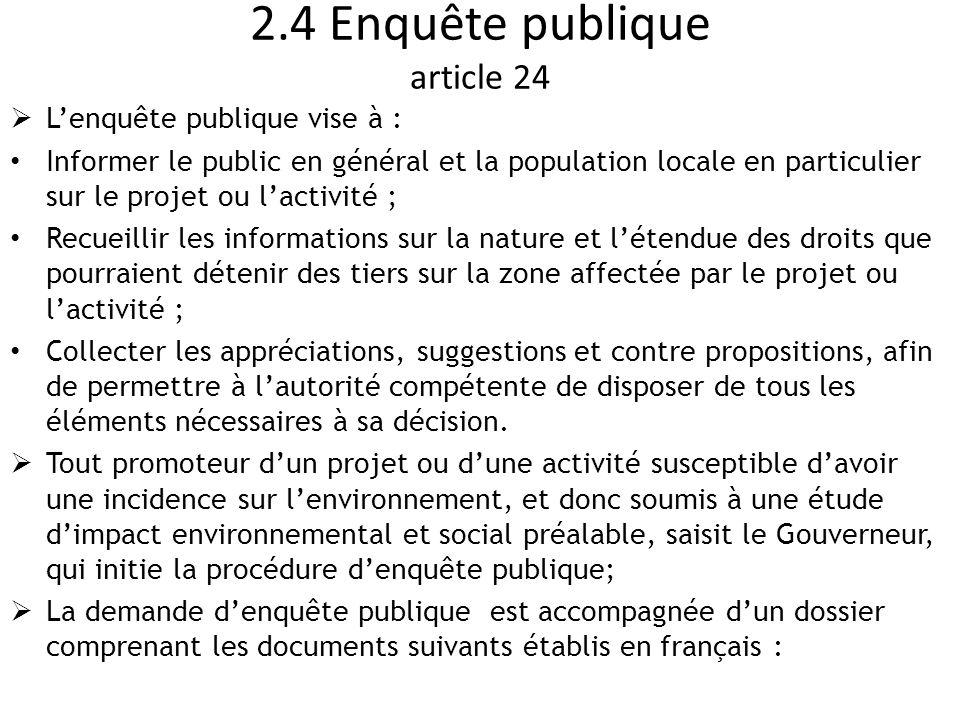 2.4 Enquête publique article 24