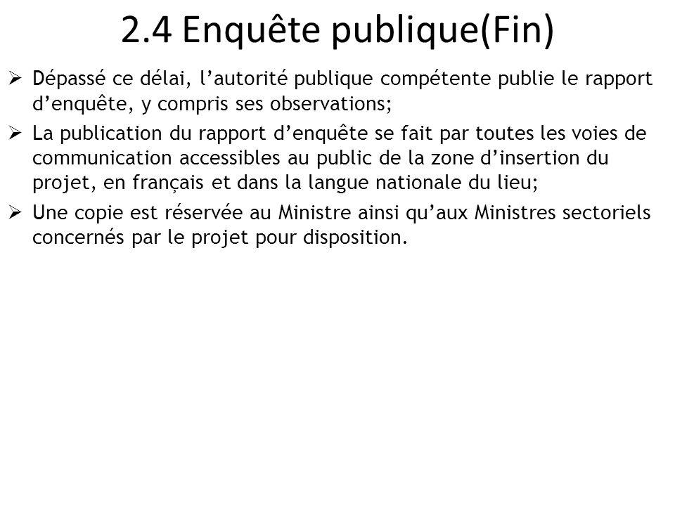 2.4 Enquête publique(Fin)