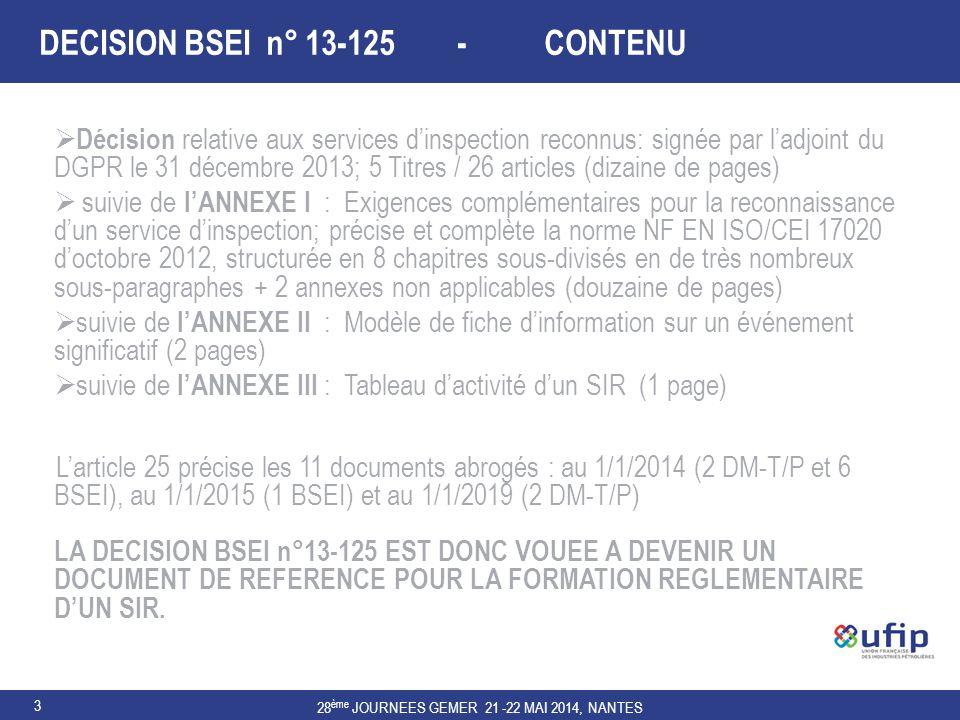 DECISION BSEI n° 13-125 - CONTENU