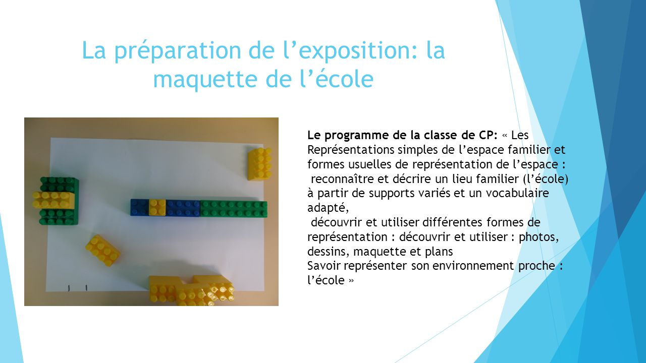 La préparation de l'exposition: la maquette de l'école