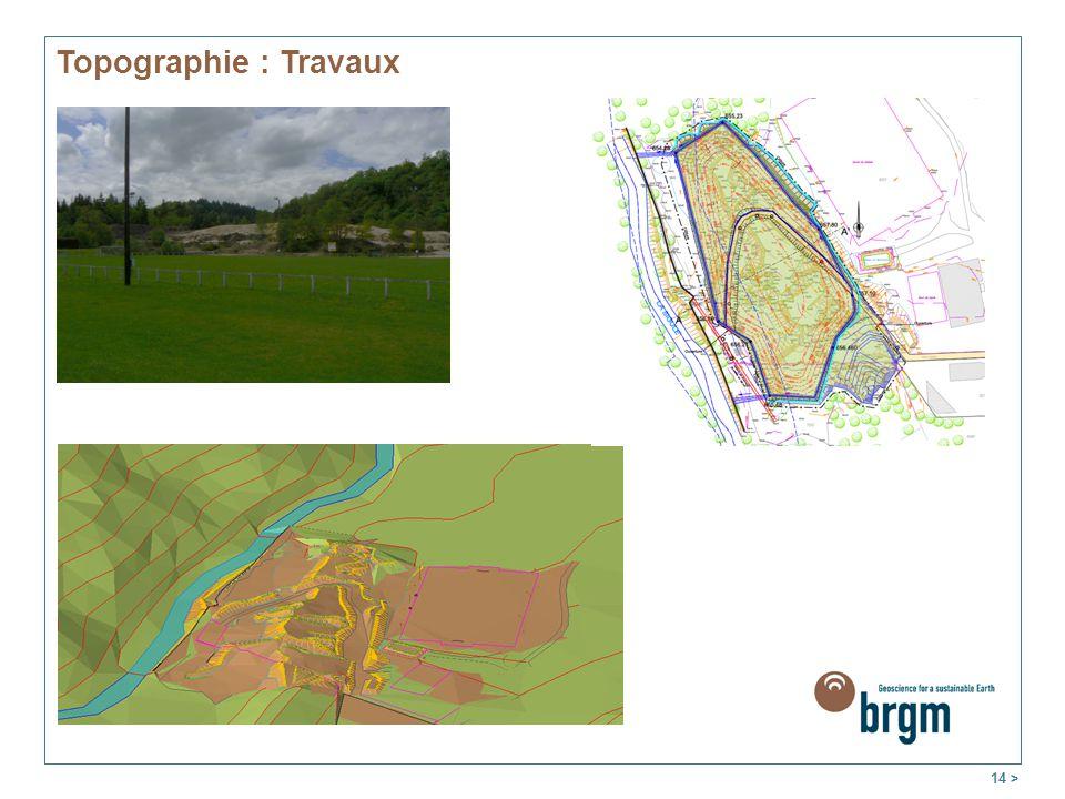 Topographie : Travaux