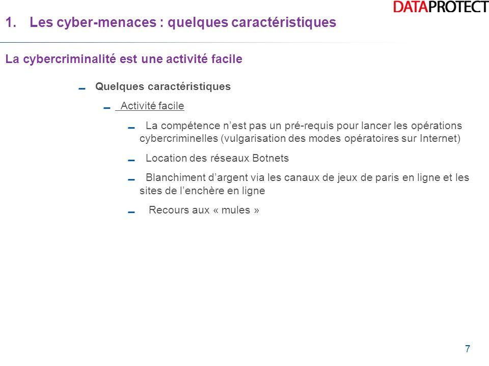 Les cyber-menaces : quelques caractéristiques