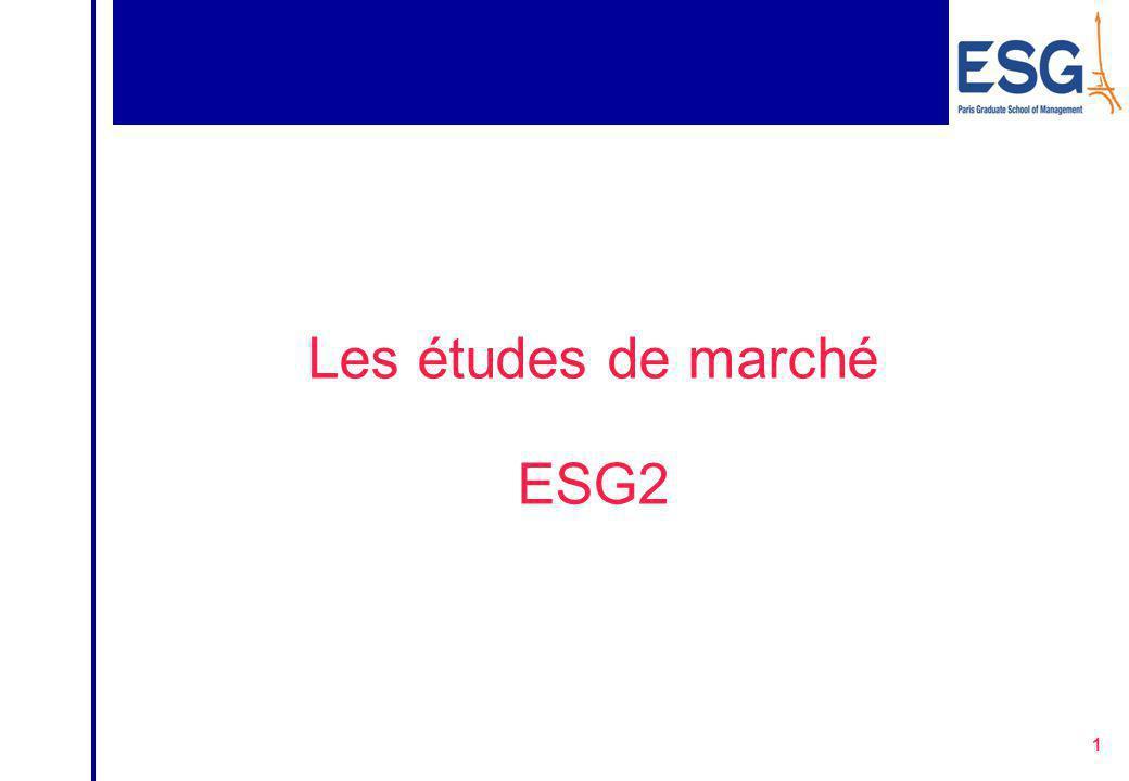 Les études de marché ESG2