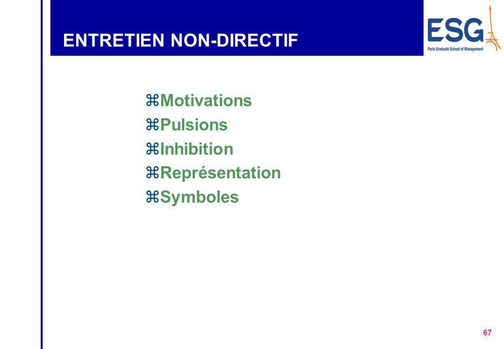 ENTRETIEN NON-DIRECTIF