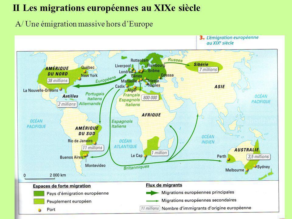 II Les migrations européennes au XIXe siècle