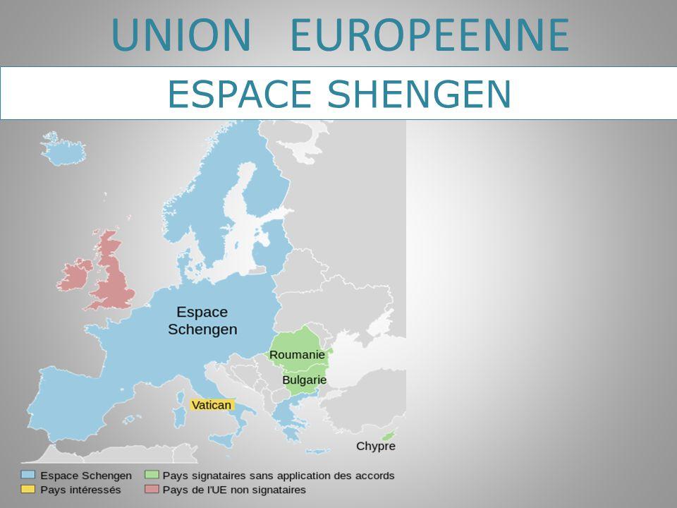 UNION EUROPEENNE ESPACE SHENGEN