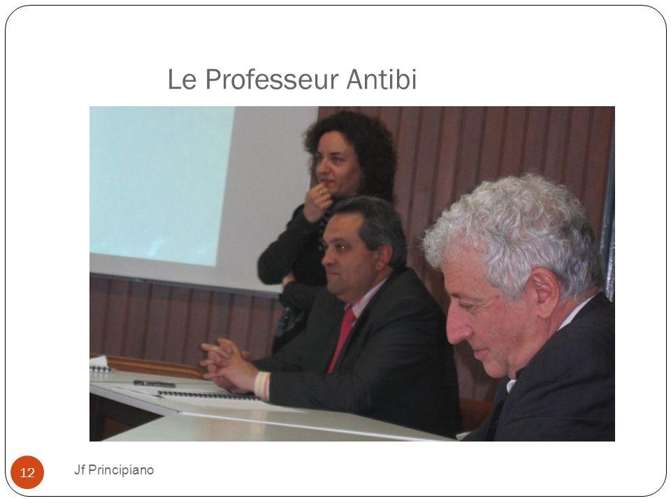 Le Professeur Antibi Jf Principiano