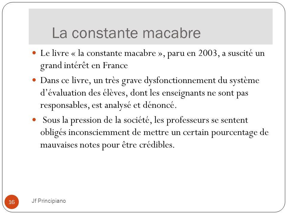 La constante macabre Le livre « la constante macabre », paru en 2003, a suscité un grand intérêt en France.