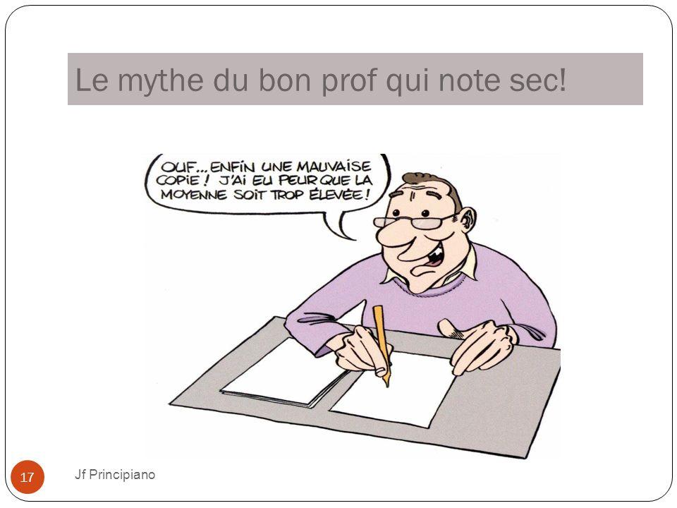 Le mythe du bon prof qui note sec!