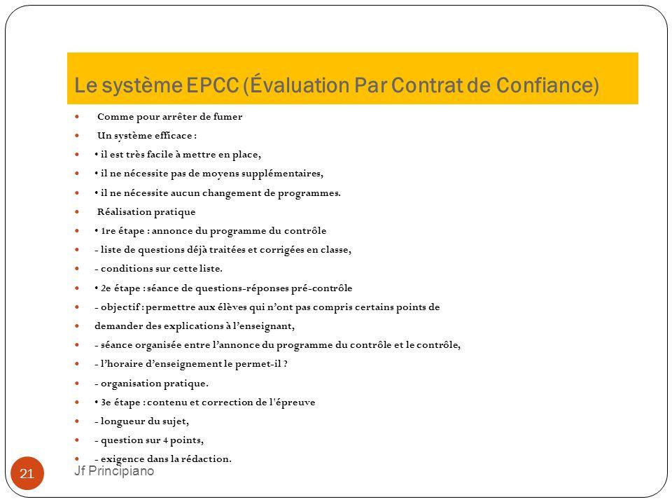 Le système EPCC (Évaluation Par Contrat de Confiance)