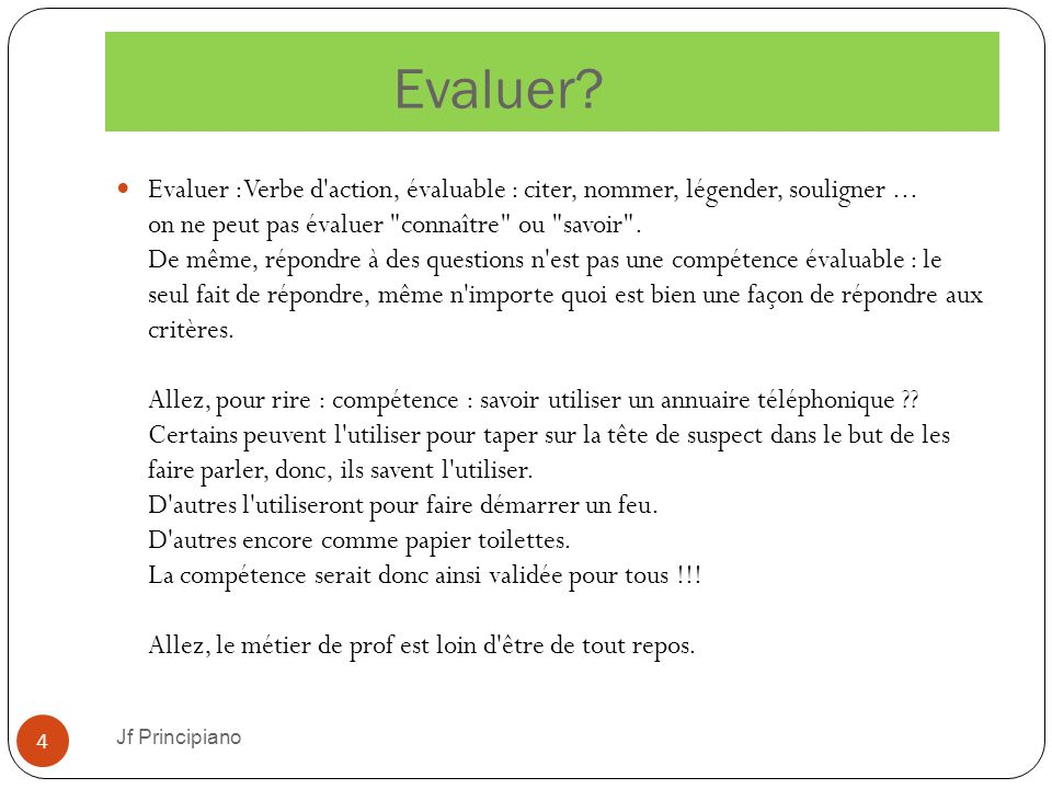 Evaluer
