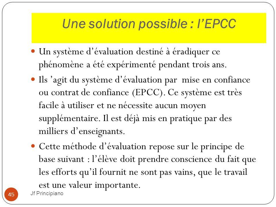 Une solution possible : l'EPCC