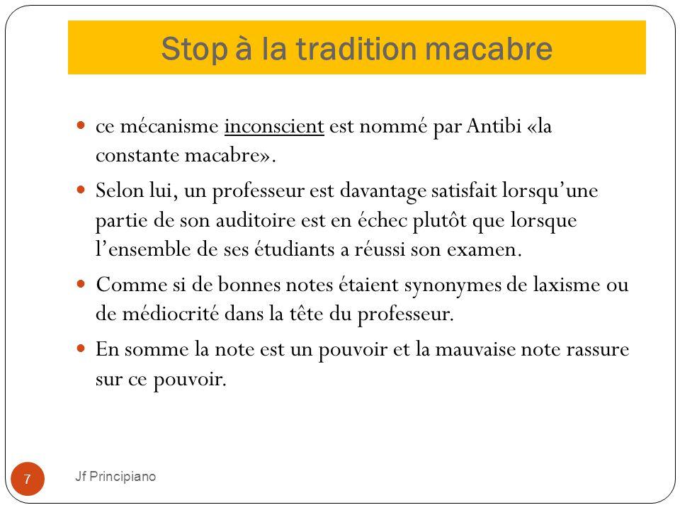 Stop à la tradition macabre