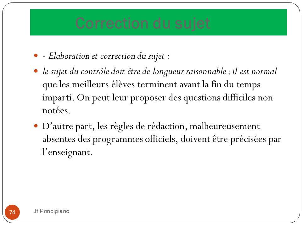 Correction du sujet - Elaboration et correction du sujet :