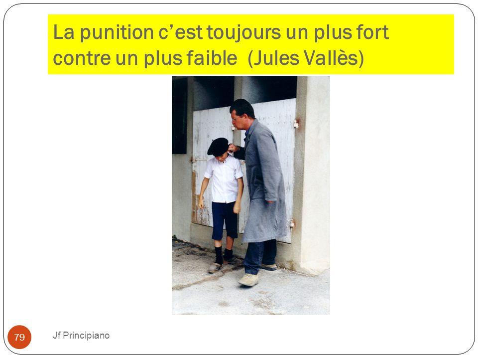 La punition c'est toujours un plus fort contre un plus faible (Jules Vallès)