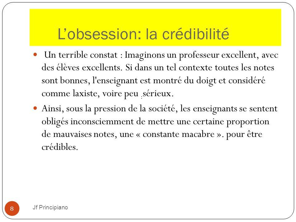 L'obsession: la crédibilité