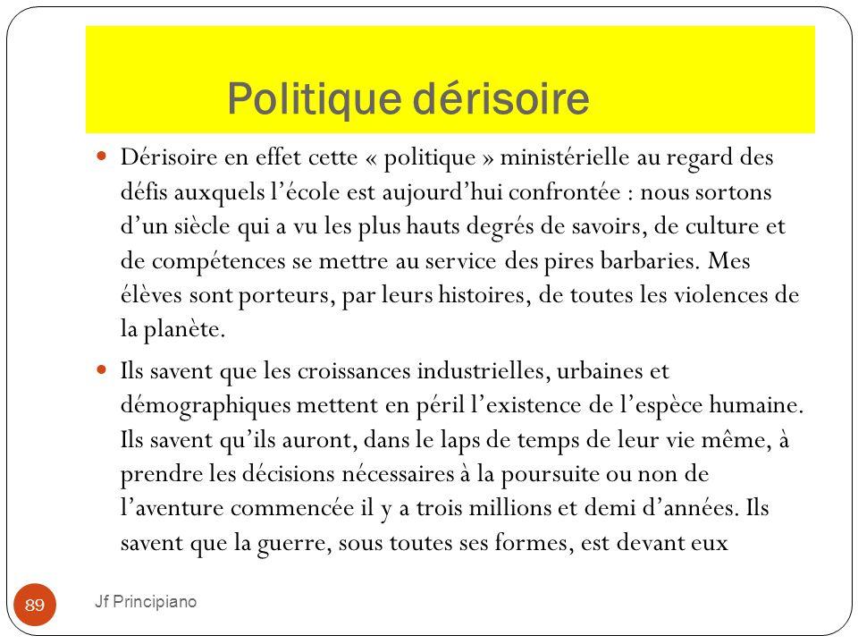 Politique dérisoire