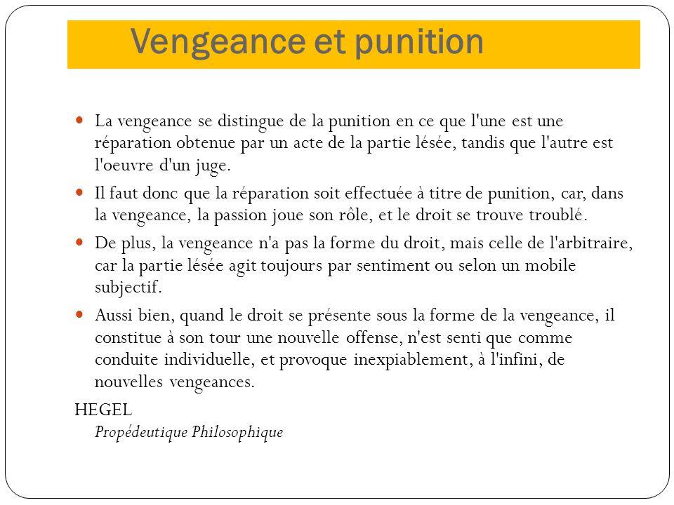 Vengeance et punition