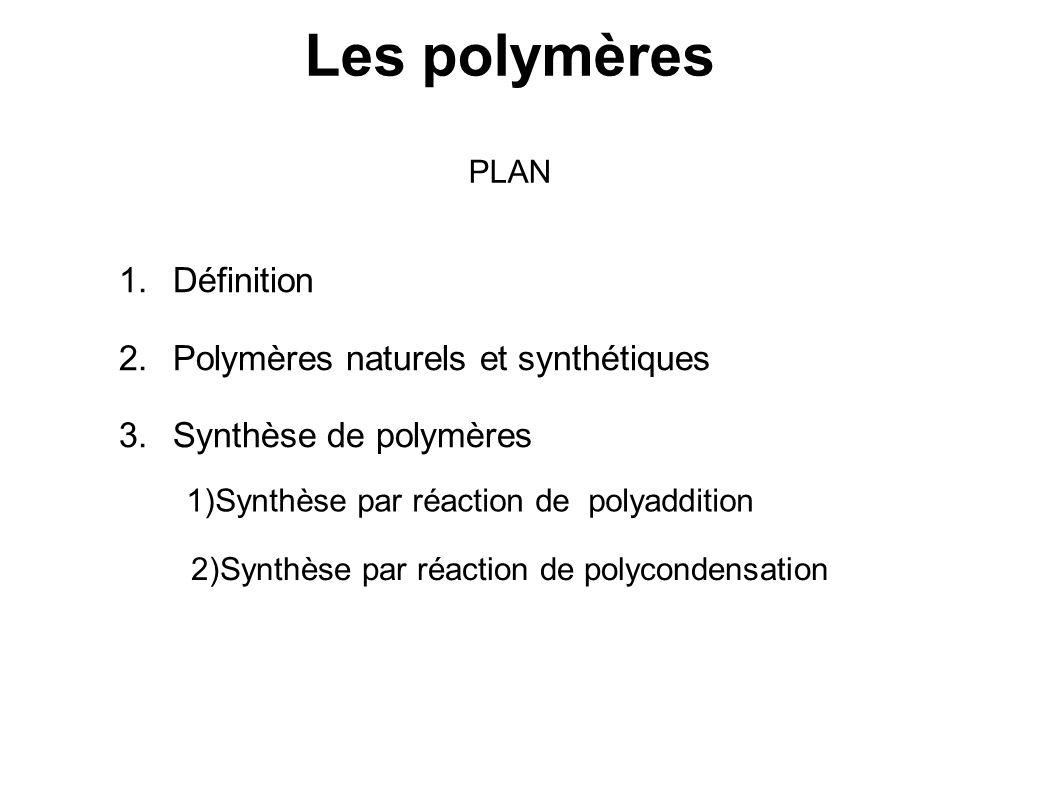 Les polymères Définition Polymères naturels et synthétiques