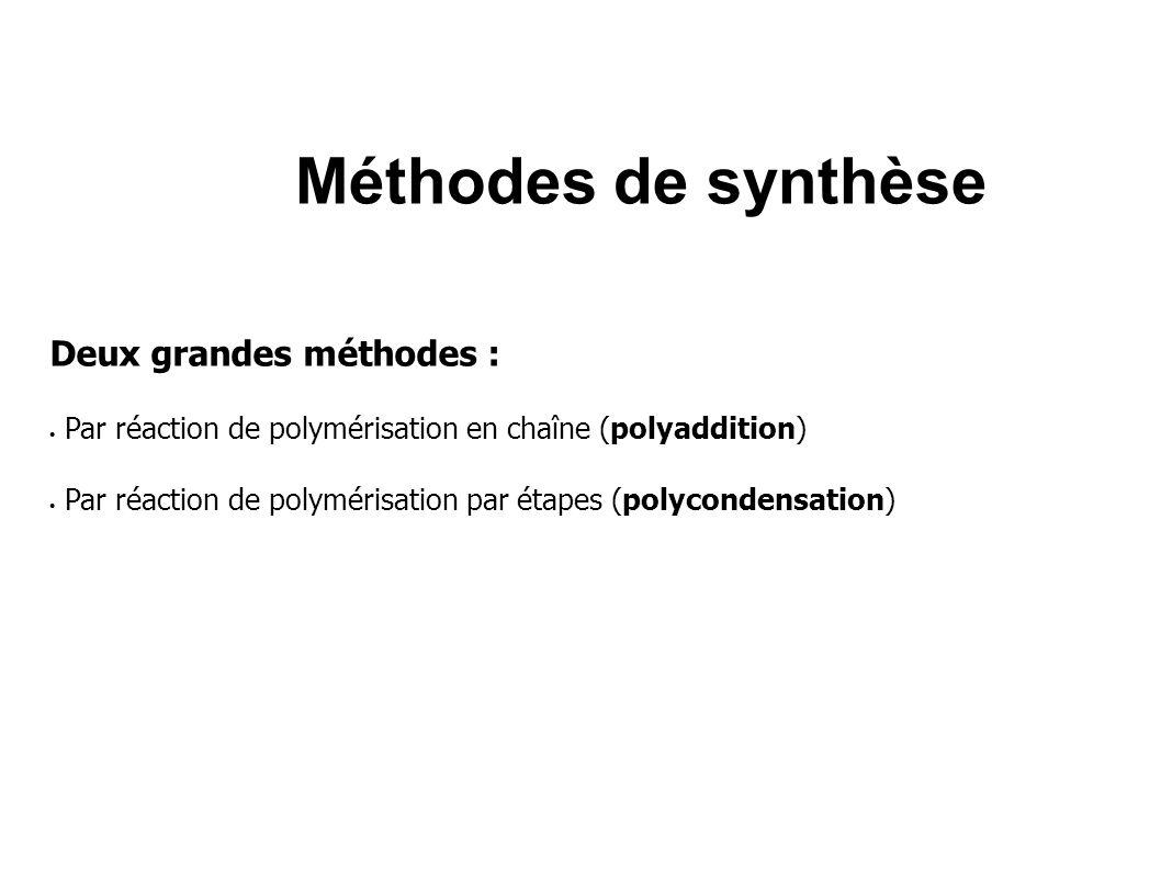Méthodes de synthèse Deux grandes méthodes :