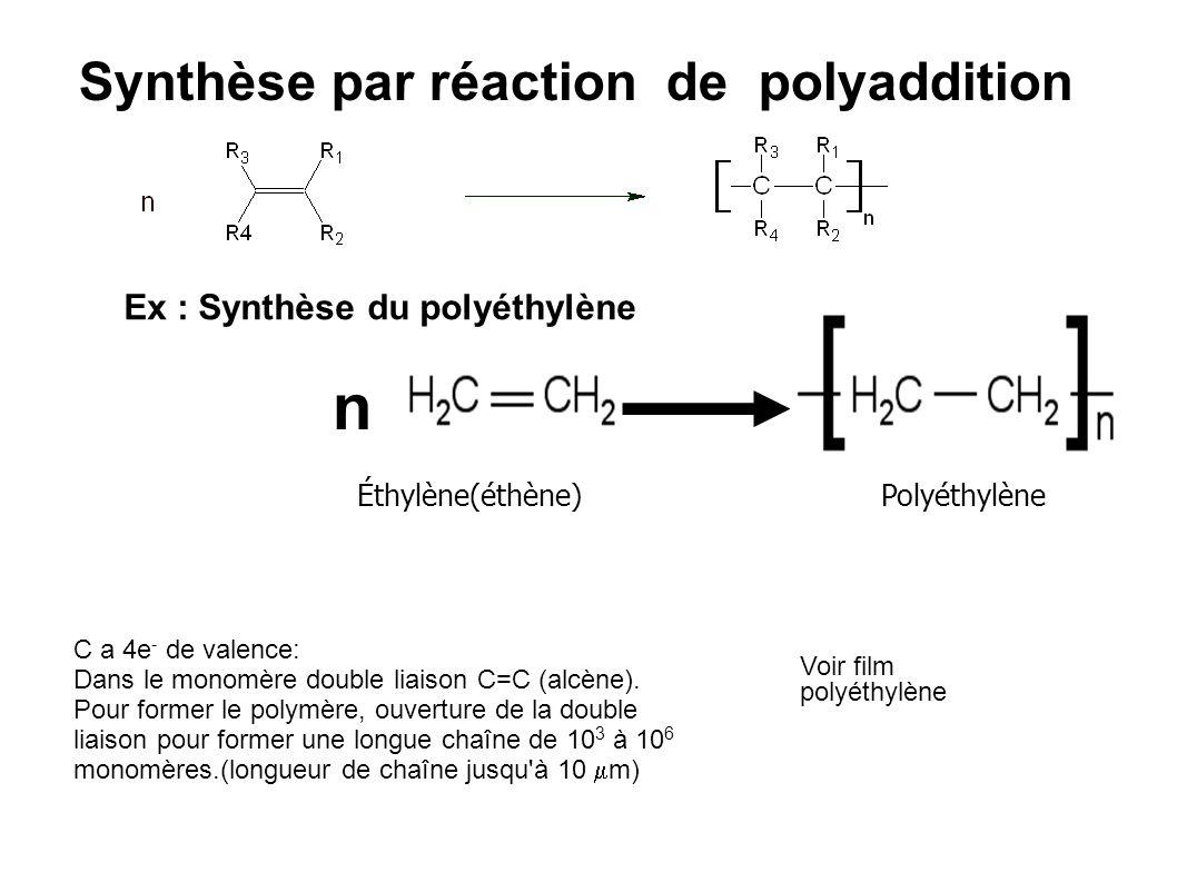 Synthèse par réaction de polyaddition