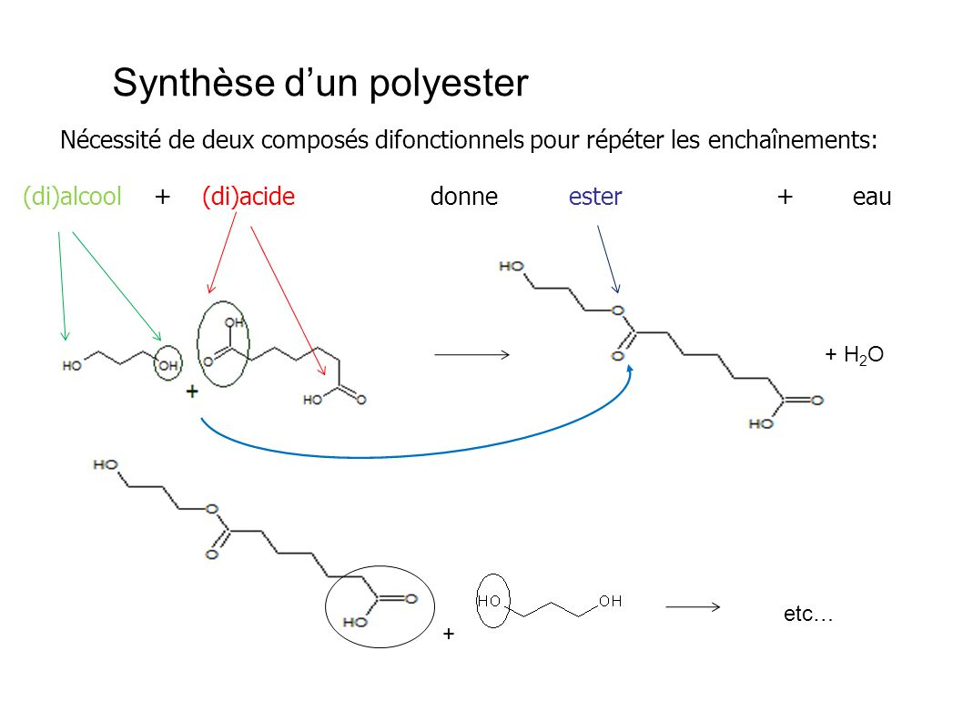 Synthèse d'un polyester