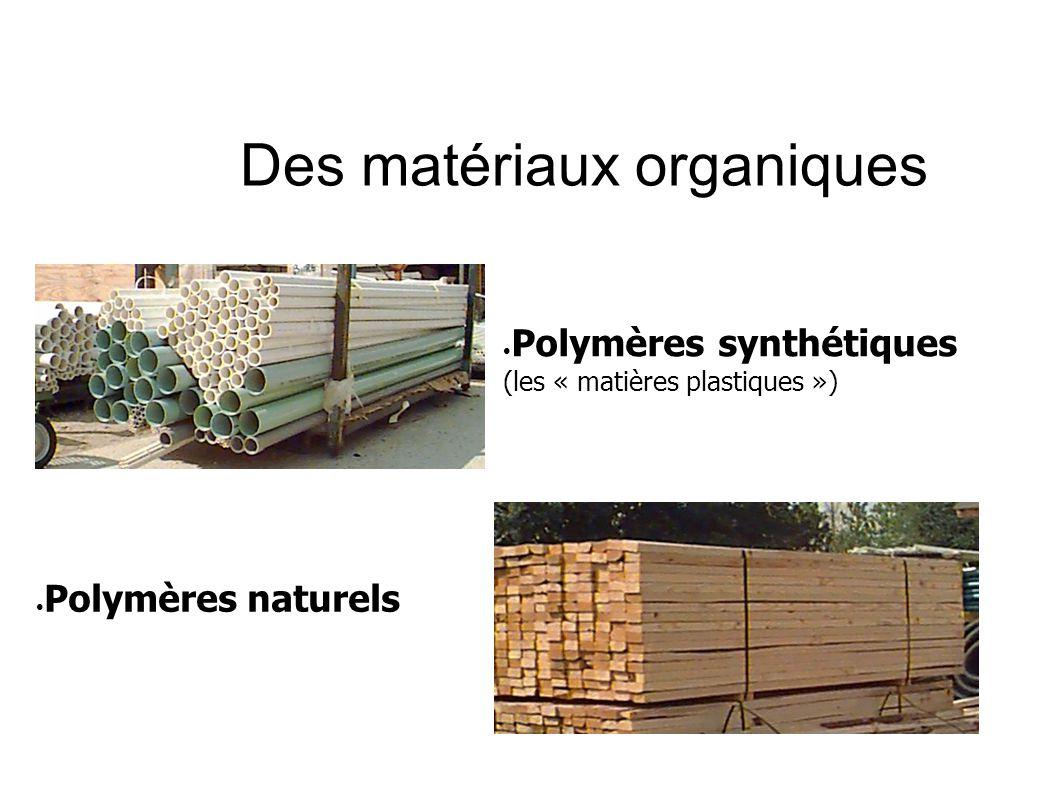Des matériaux organiques