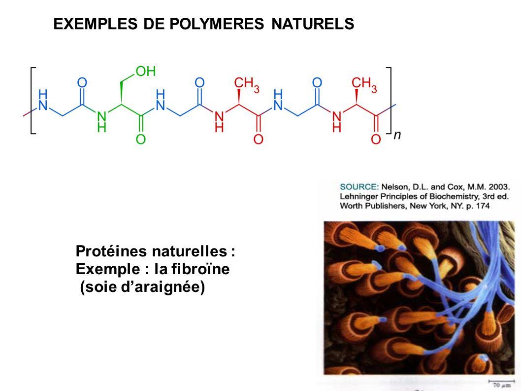 EXEMPLES DE POLYMERES NATURELS