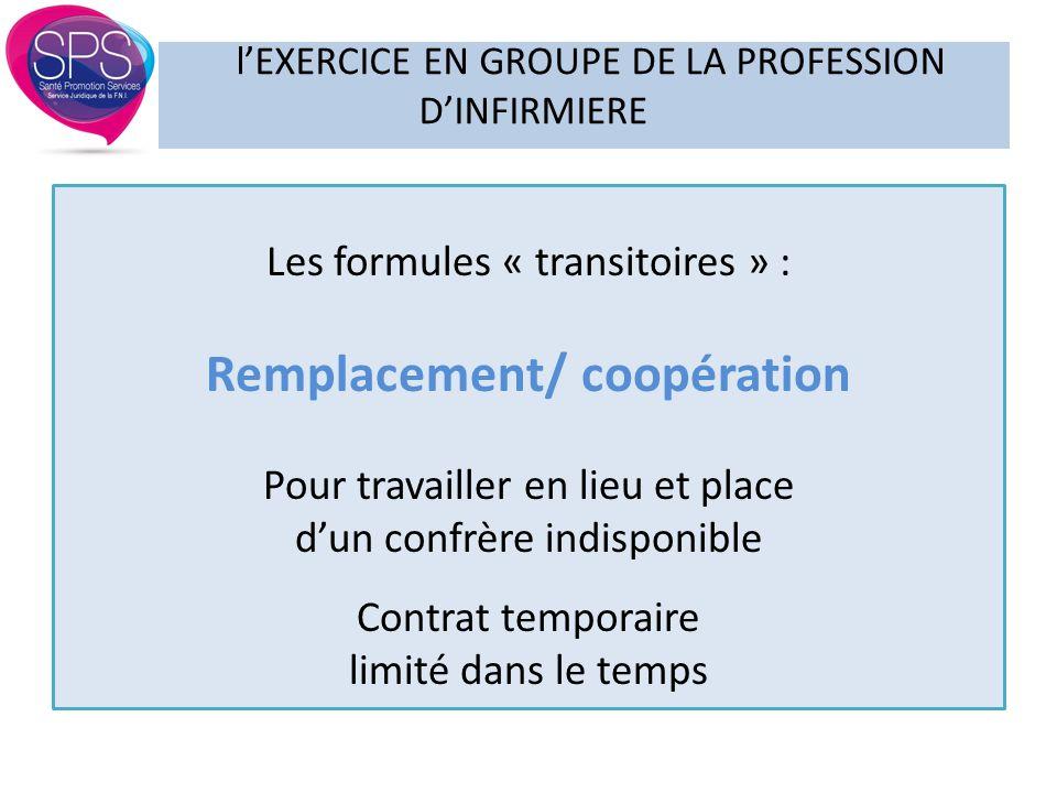 l'EXERCICE EN GROUPE DE LA PROFESSION D'INFIRMIERE