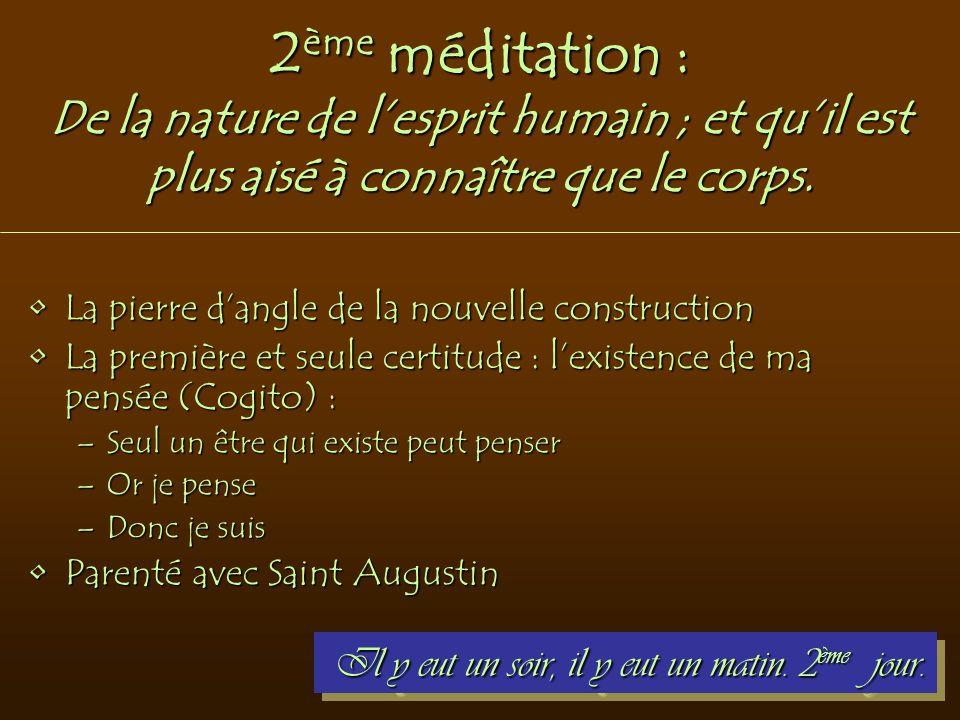 2ème méditation : De la nature de l'esprit humain ; et qu'il est plus aisé à connaître que le corps.