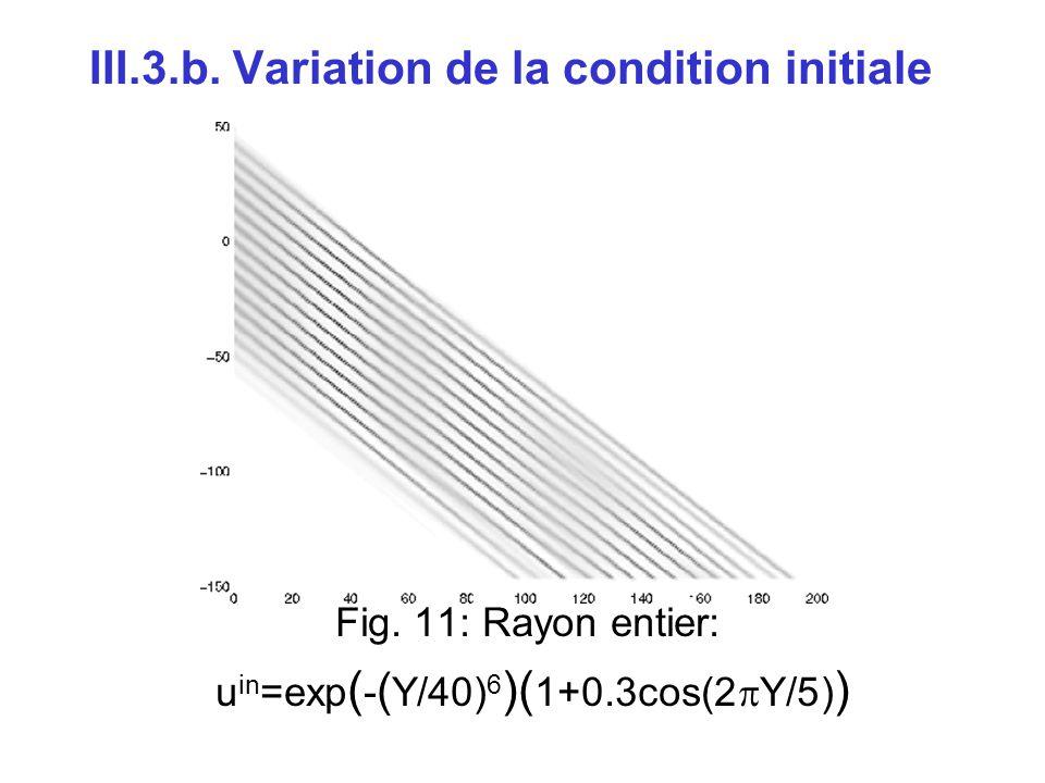 III.3.b. Variation de la condition initiale