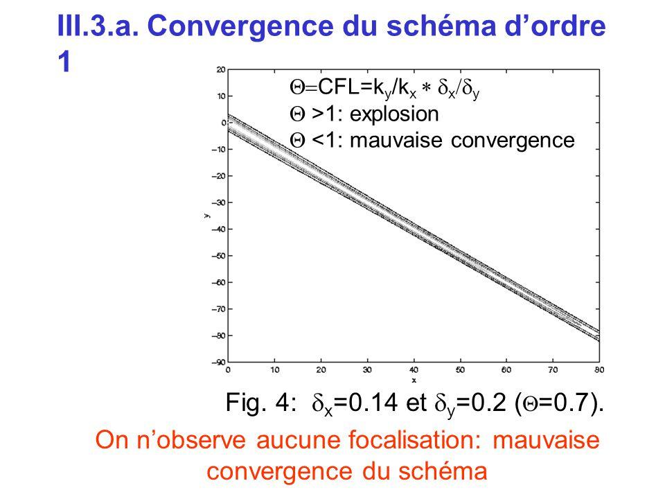 III.3.a. Convergence du schéma d'ordre 1